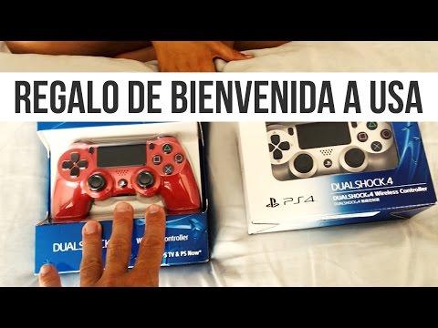UNBOXING REGALO DE BIENVENIDA A USA | NUEVOS MANDOS PS4 DUALSHOCK CONTROLLERS