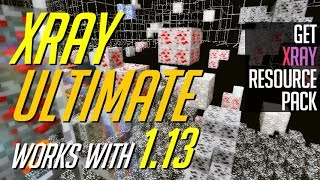 How to add Xray to Minecraft - download install Xray Ultimate [1.13 compatible X ray resource pack]