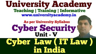 L28: Cyber Law in india |  IT law | Area of Cyber Law | Definition and IT Act 2000 Provisions
