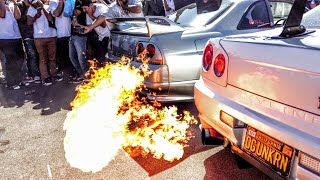 skylines battle it out at nissfest 2017 exhaust competition