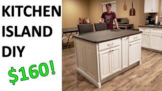 Kitchen Island DIY Build For $160 Budget!