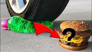 REACTING TO Crushing Crunchy & Soft Things by Car!