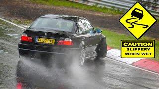 Nürburgring + Rain = Drifts, Slides, Spins & Lot's of Slippery Action! Nordschleife Touristenfahrten