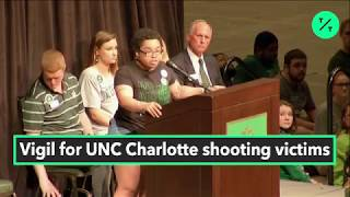 Students Hold Vigil For UNC Charlotte Shooting Victims