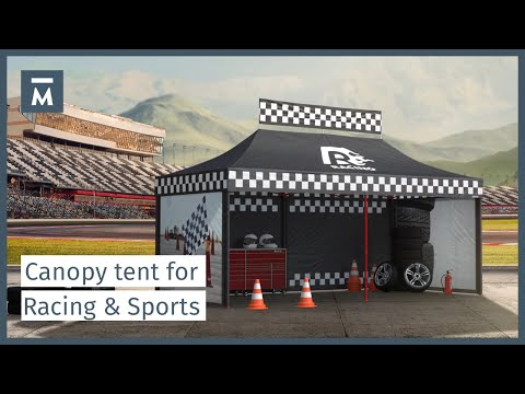 Canopy tents for racing sport events [U.S.]
