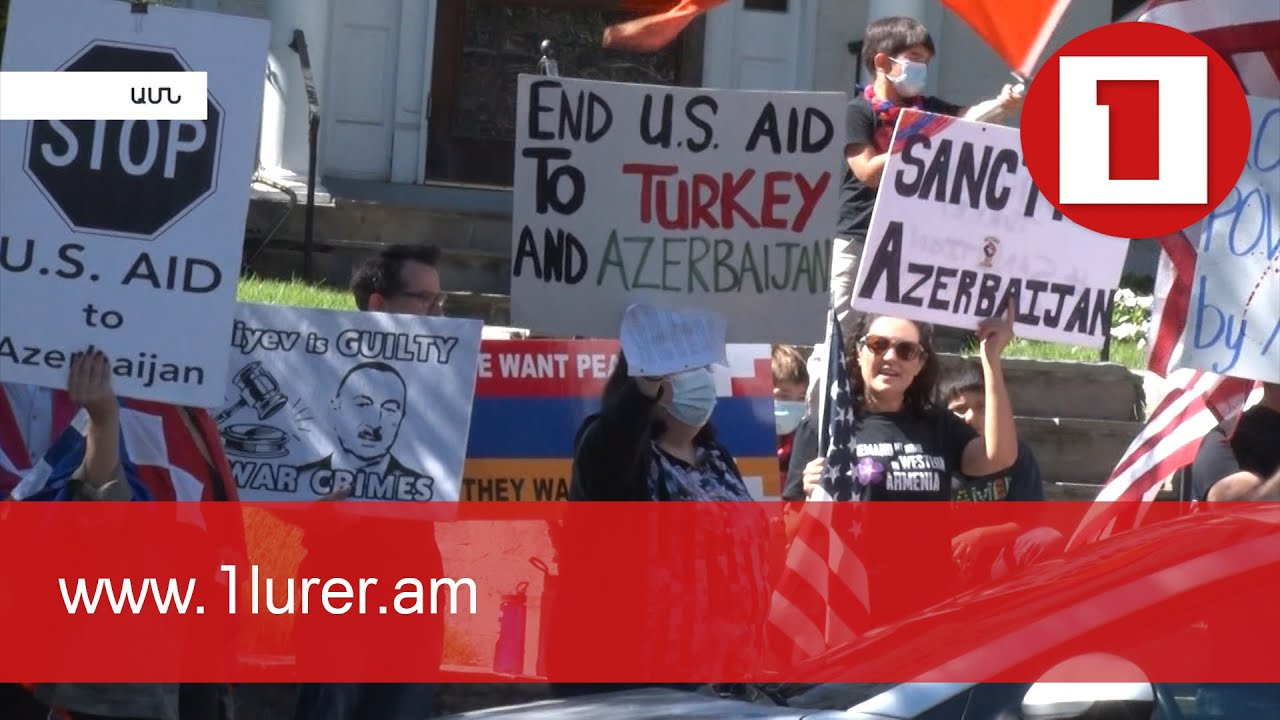 First anniversary of 44-day war in Washington in front of Azerbaijani and Turkish embassies