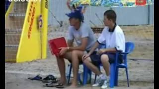 Соревнования по пляжному волейболу.