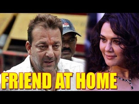 Preity Zinta Meets Sanjay Dutt at Home