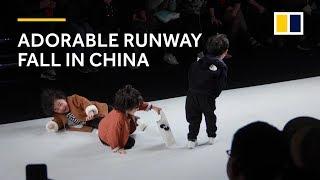 Adorable Runway Fall At Kids Fashion Show In China Warms Hearts