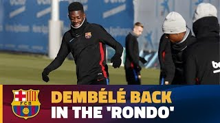 Dembélé takes part in