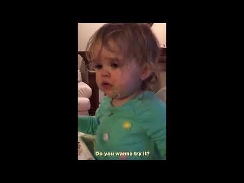 Toddler tries wasabi
