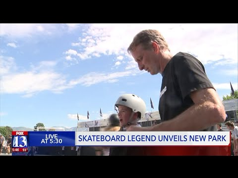 Tony Hawk Unveils New Skatepark in Salt Lake City