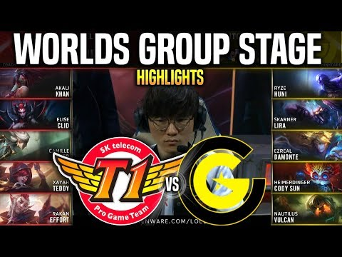 SKT vs CG Highlights Worlds 2019 Group Stage Day 7 - SKT T1 vs Clutch Gaming Highlights Worlds 2019