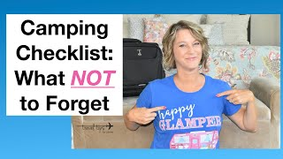 Camping Checklist (What NOT To Forget)