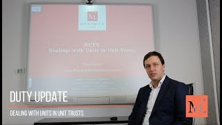 DEALING WITH UNITS IN UNIT TRUSTS