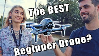 Can my girlfriend fly the DJI FPV Drone?.. she CRASHED!