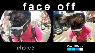 How does iPhone 6 plus compare to GoPro - POV Action Bike Test