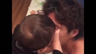 パパのお顔にクリスマスデコレーション子育て育児動画