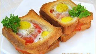 Смотреть онлайн Рецепт как приготовить вкусный горячий бутерброд