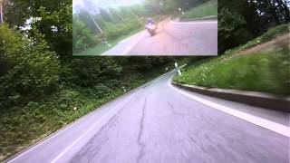 preview picture of video 'Honda Fireblade war schneller (Schwarzwald, Käppele) Rollei Bullet HD BitfW'