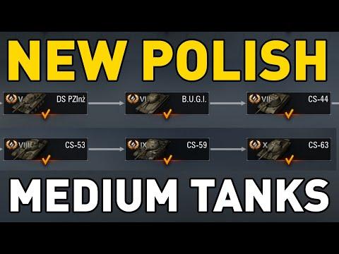 POLISH MEDIUM TECH TREE - World of Tanks