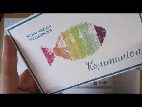 Einladung zur Kommunion   Regenbogenfisch