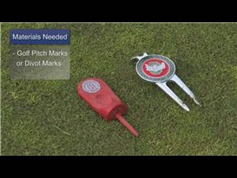 Golf Tips With Conan Elliot : How to Use a Golf Divot Tool