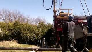 Drilling out a stone with Cabletool and adding a 20ft length of casing