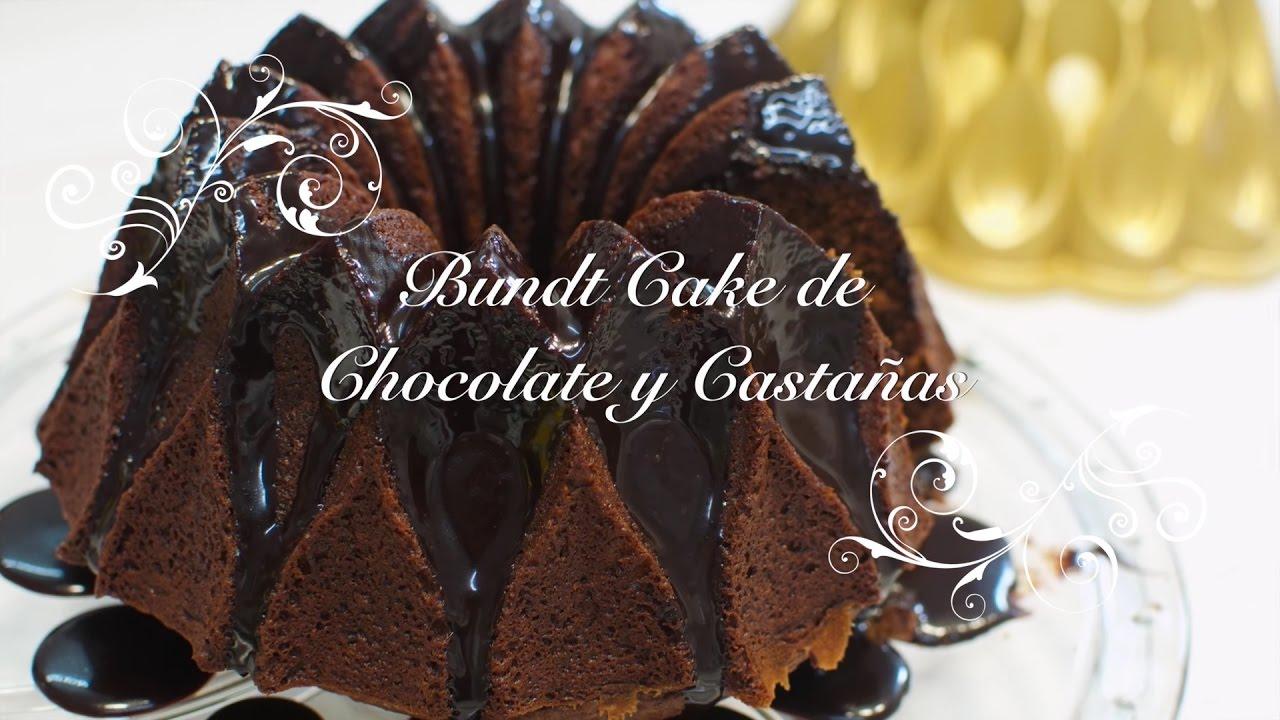 Bundt Cake de Chocolate y Castañas con Salsa de Chocolate | Bundt Cake Castañas