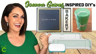 ⭐HOW TO Decorate Like JOANNA GAINES: 3 DIYs W/ Cricut! (JOY VS. AIR VS. MAKER)