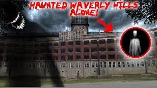 HAUNTED WAVERLY HILLS SANATORIUM ALONE WITH A REAL GHOST!! | MOE SARGI