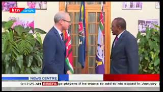 President Uhuru discusses bilateral trade with Irish-frein and trade minister Simon Coveney