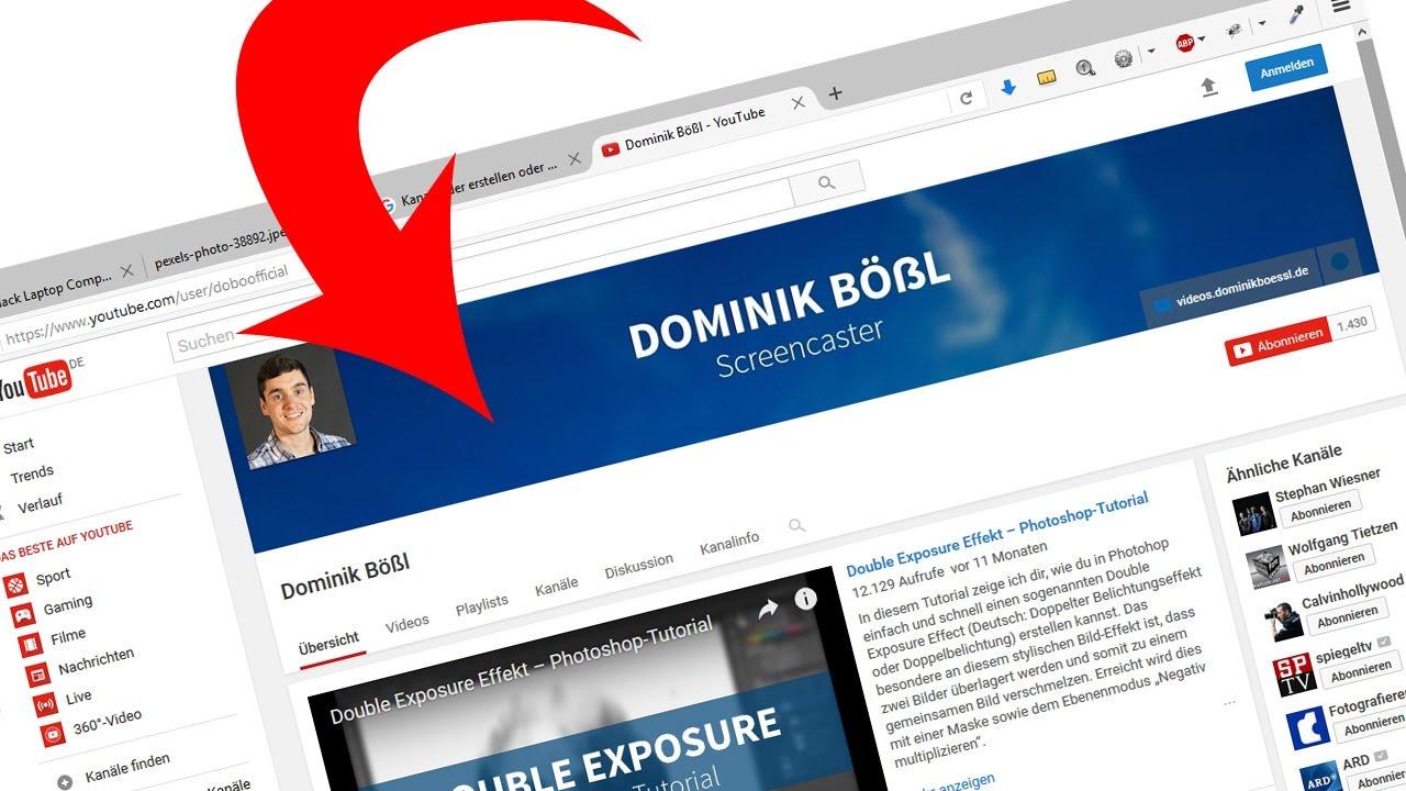 YouTube Kanalbild/Kanalbanner erstellen (mit Template/Vorlage) – Photoshop-Tutorial