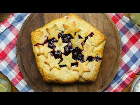 Grilled Blueberry Pie •Tasty