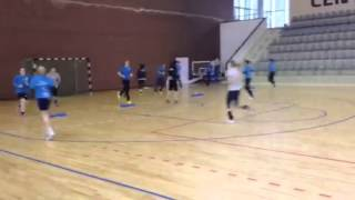 Handball - warm up drills