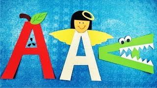 Alphabet Activity For Kindergarten L Alphabet A Activity L Teaching Alphabets Fun Way L A  Games