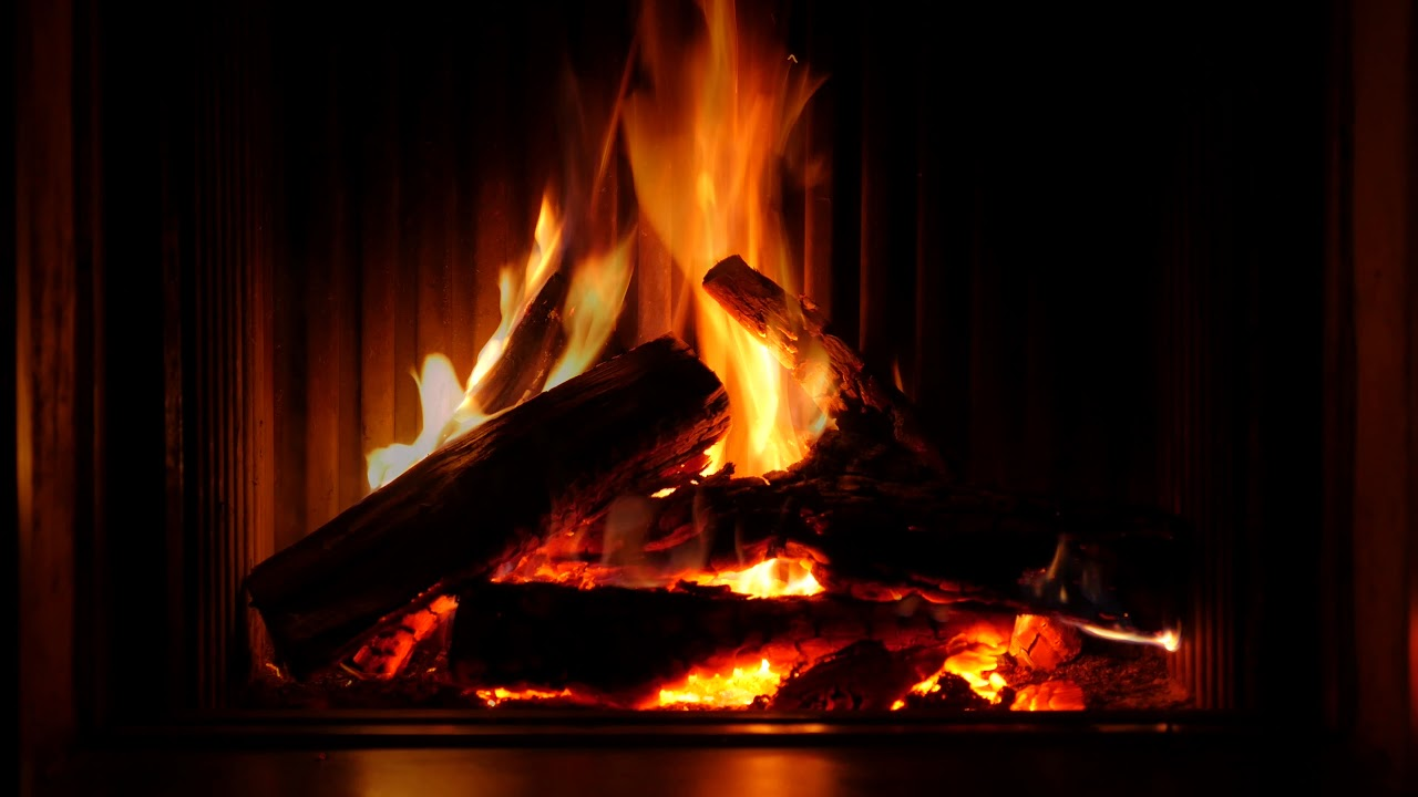 Cozy yule log fireplace with crackling christmas music! (hd) youtube.