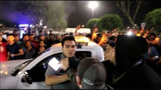 HUGE BRAWL BREAKS OUT AT CAR MEET.. Security Car Destroyed