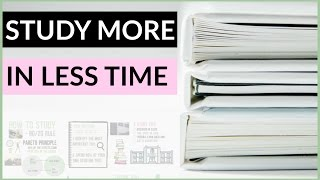 How to STUDY MORE IN LESS TIME: 80/20 RULE (Pareto Principle)
