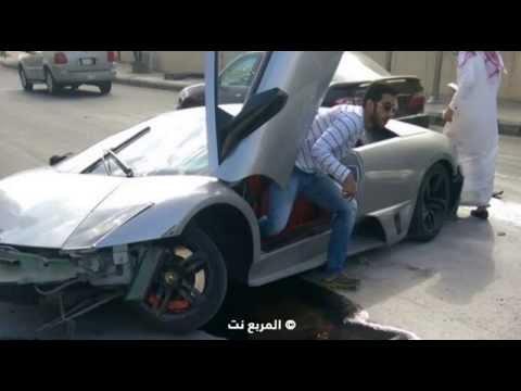Lamborghini Murcielago Damaged In Hit And Run Accident In