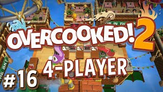 Overcooked 2 - #16 - SKY BURGERS!! (4 Player Gameplay)