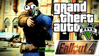 FALLOUT 4 in GTA 5: VATS and POWER ARMOR! (HD 1080P)