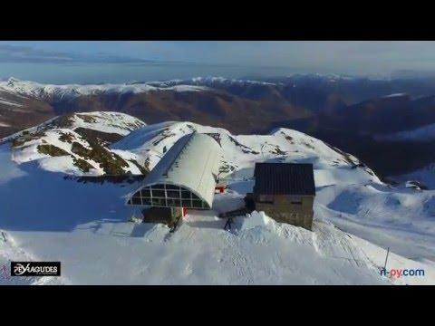 Ouverture des pistes de ski de Peyragudes (drone)