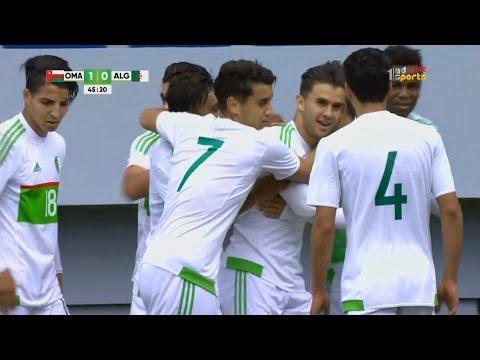 أهداف مباراة الجزائر 1-1 عمان
