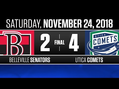 Senators vs. Comets | Nov. 24, 2018