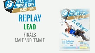 preview picture of video 'IFSC Climbing World Cup Imst 2014 - Lead - Finals - Men/Women'