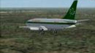 preview picture of video 'Air Canadian Boeing 737-200 Landing Runway 16 SLVR'