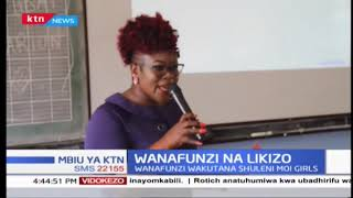 Wanafunzi wamekutana shuleni Moi Girls ili kupata ushauri kwa taaluma mbalimbali