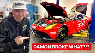 YOU WON'T BELIEVE WHATS BROKEN ON OUR NEW FERRARI!