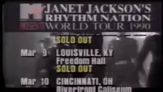 (1989) Janet Jackson Rhythm Nation Tour Dates